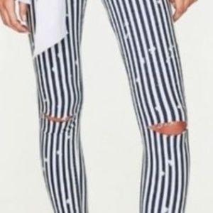 Zara Blue & White Striped Jeans